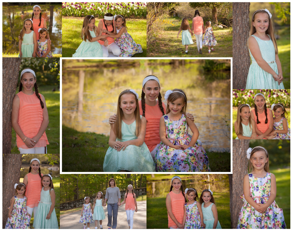Spring Portraits in a Collage